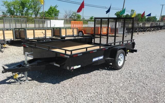 2017 Sure-Trac 7 x 12 Steel Side Utility