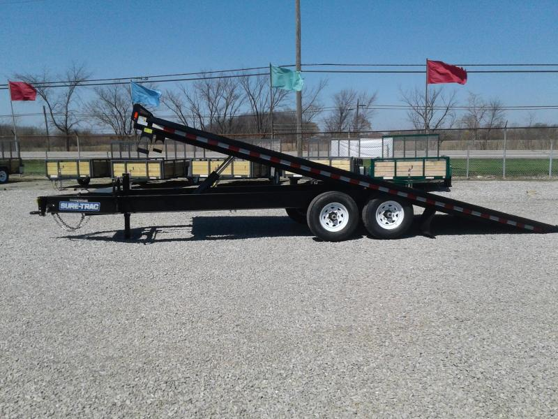 2018 Sure-Trac 22' 15K Powertilt Deckover Equipment Trailer