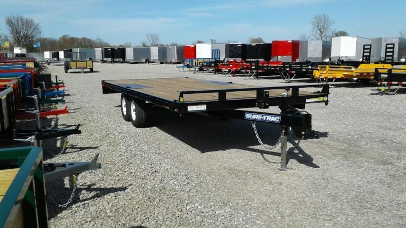 2018 Sure-Trac 8.5x20 Flat Deck Deckover 10k Equipment Trailer