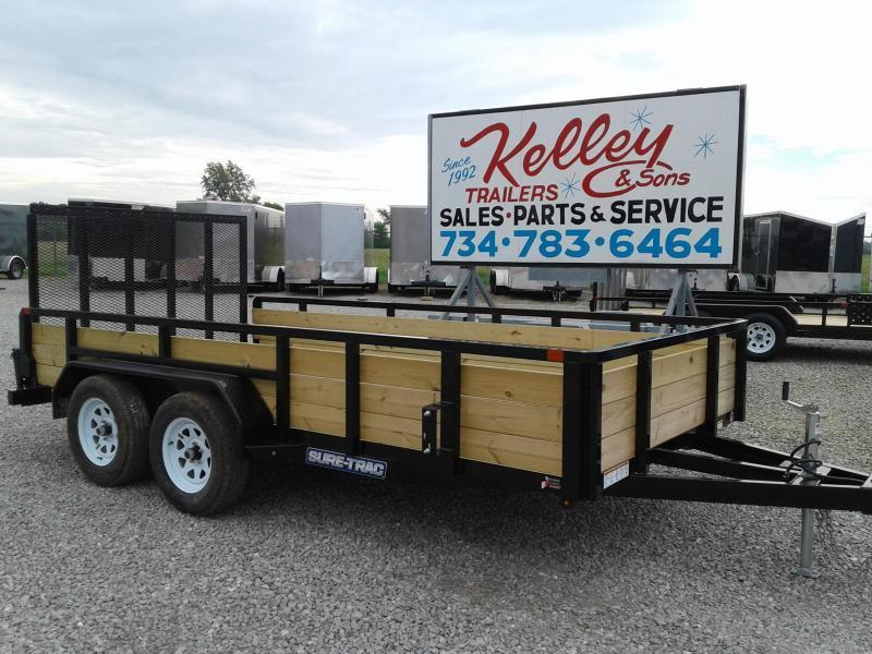2019 Sure-Trac 7x14 Tandem Axle 7K 3-Board Utility Trailer