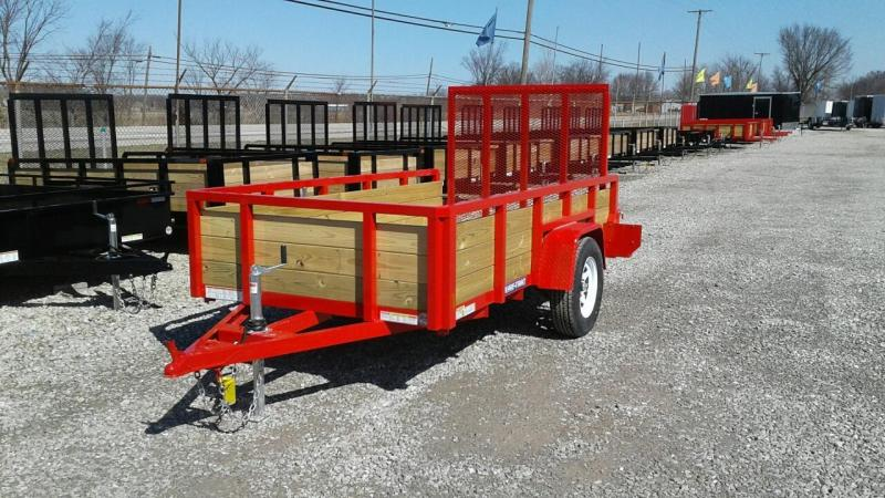 2017 Sure-Trac 5 x 10 3 Board Utility Trailer