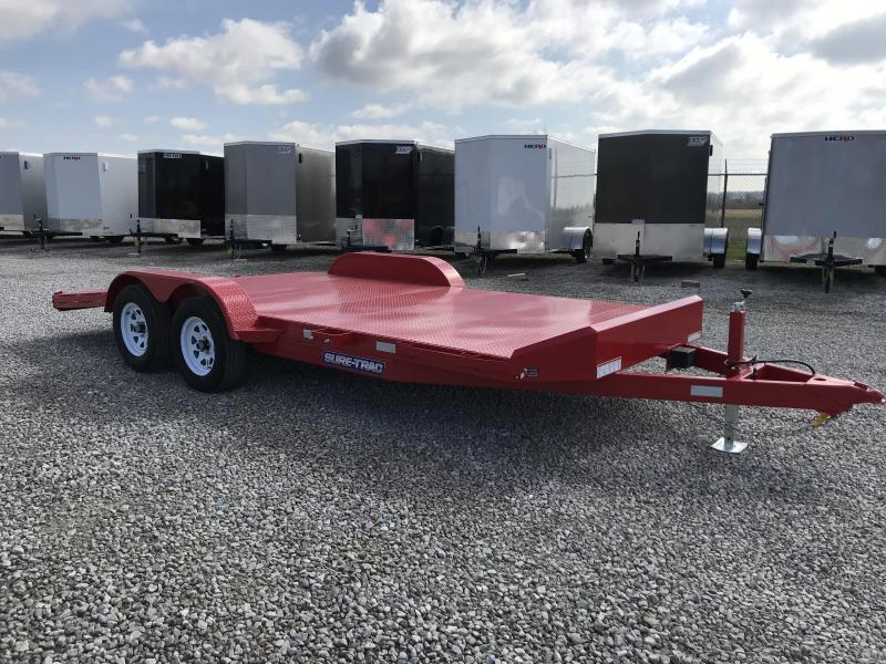 2018 Sure-Trac 18' 7k Steel Deck Car Hauler Car / Racing Trailer