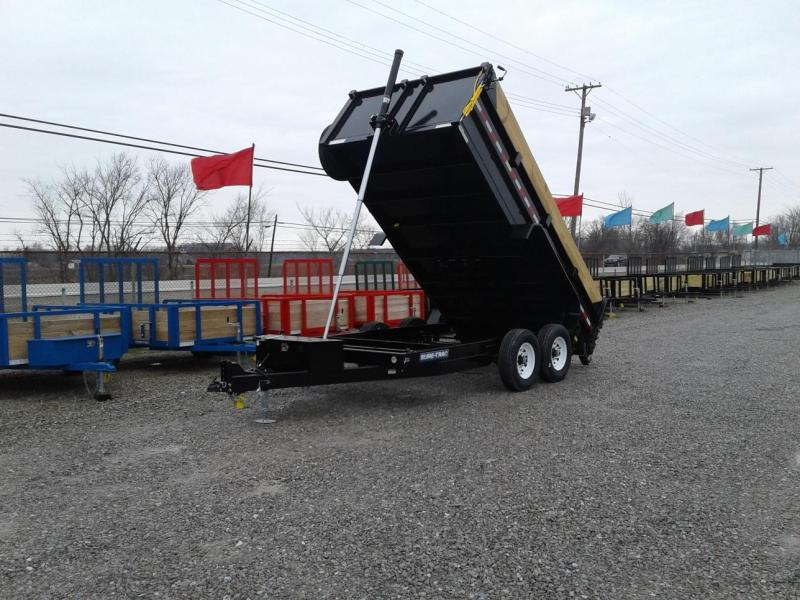 "2018 Sure-Trac 82"" x 14' 14K Telescopic Dump Trailer"