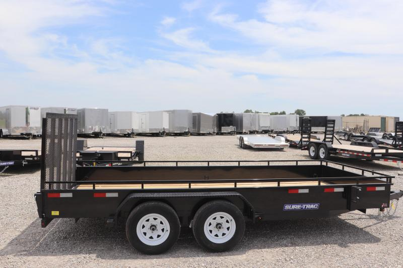 2019 Sure-Trac 7x16 7K Steel High Side Utility Trailer