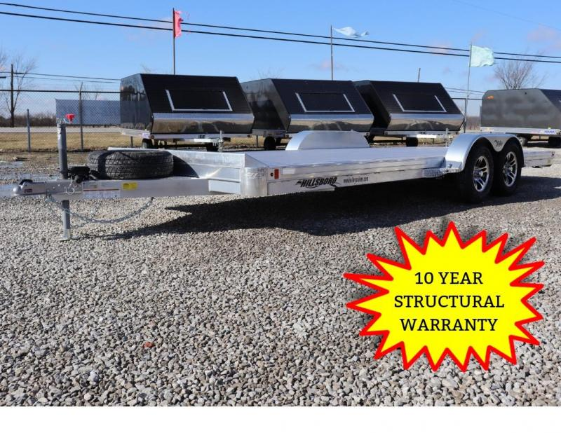 "2019 Hillsboro Industries 82.5""x18 Aluminum Car Hauler Car / Racing Trailer"