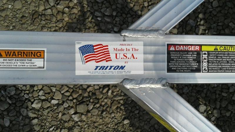 2017 Triton Trailers Tilt 1482 Utility Trailer