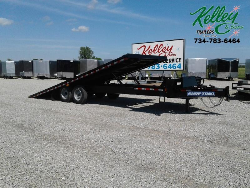 2019 Sure-Trac 102x22+4 17.6K Deckover Tilt Equipment Trailer