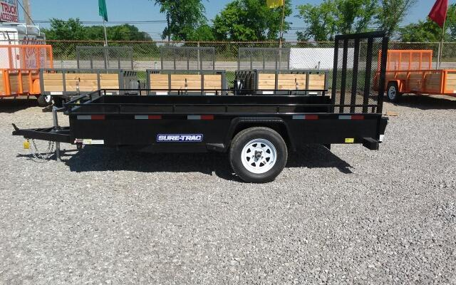 2017 Sure-Trac 6 x 12 Steel Side Utility