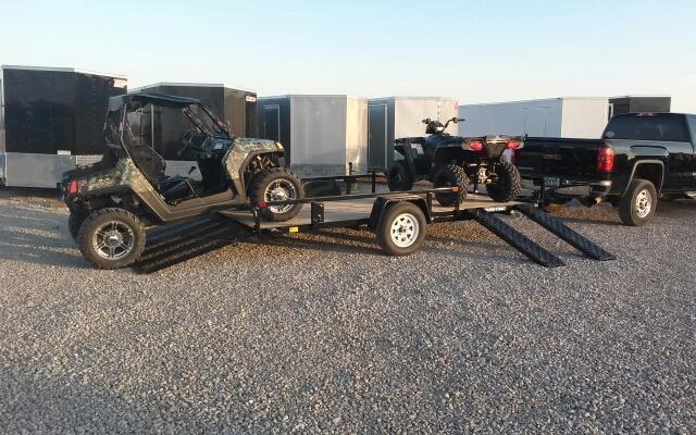 2018 Sure-Trac 7x14 ATV Tube Top Utility Trailer