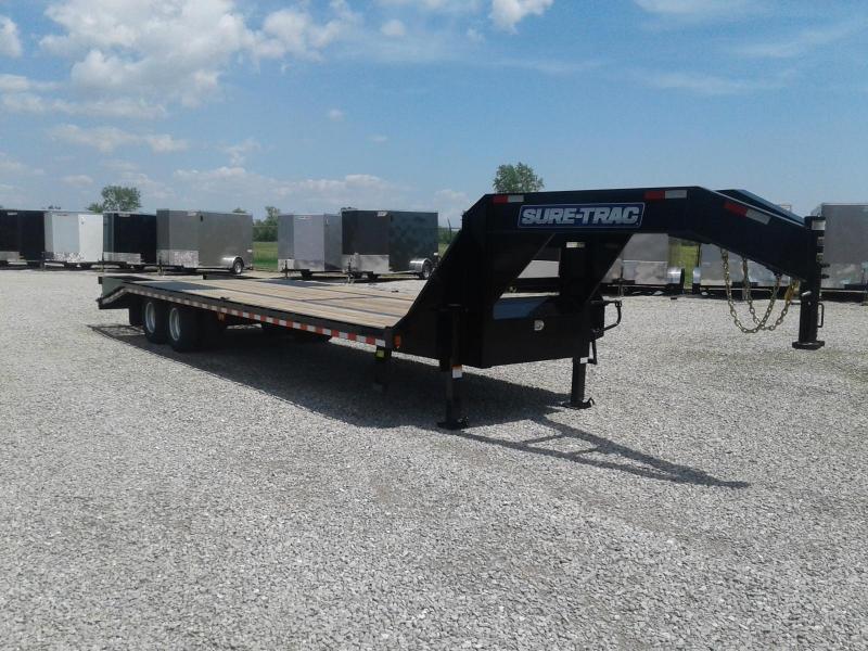 2018 Sure-Trac 8.5x25+5 Deckover Gooseneck 25.9K Equipment Trailer