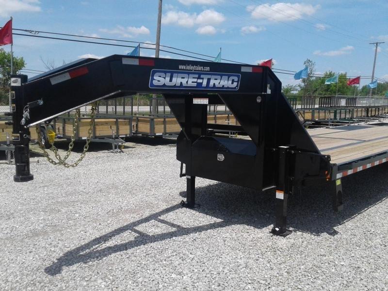 2019 Sure-Trac 8.5x25+5 25.9K Deckover Gooseneck Flat Bed Trailer