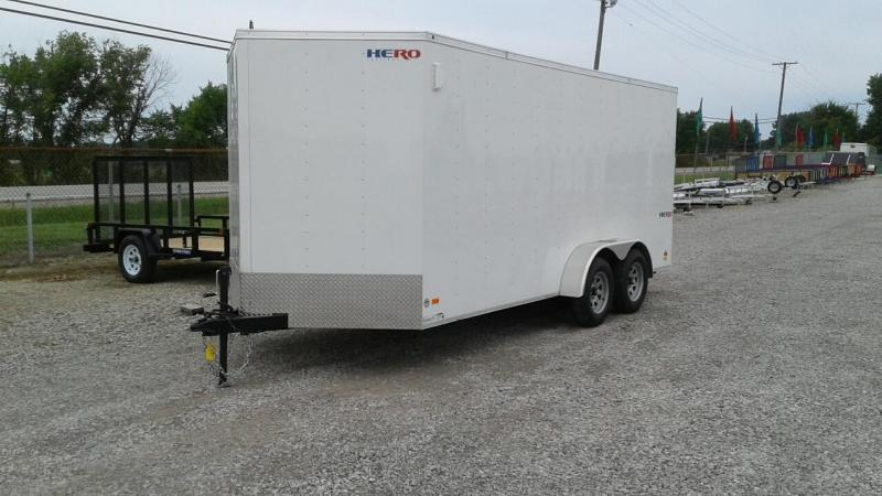 2017 Bravo Trailers 7 x 16 Hero Enclosed Cargo Trailer