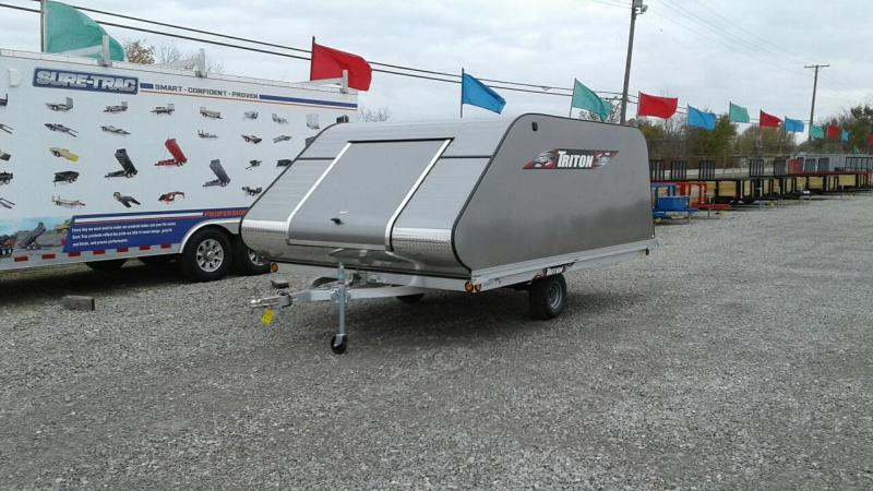 2018 Triton Trailers XT12-101SQ 2 Place Snowmobile Trailer