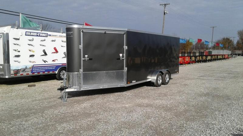 2018 Aluminum Trailer Company 18 + 6 3 Place Snowmobile Trailer