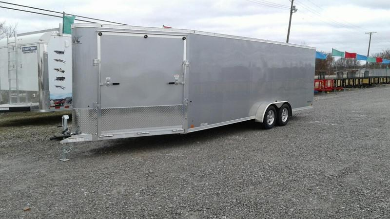 2018 Aluminum Trailer Company 22+6 4 Place Snowmobile Trailer