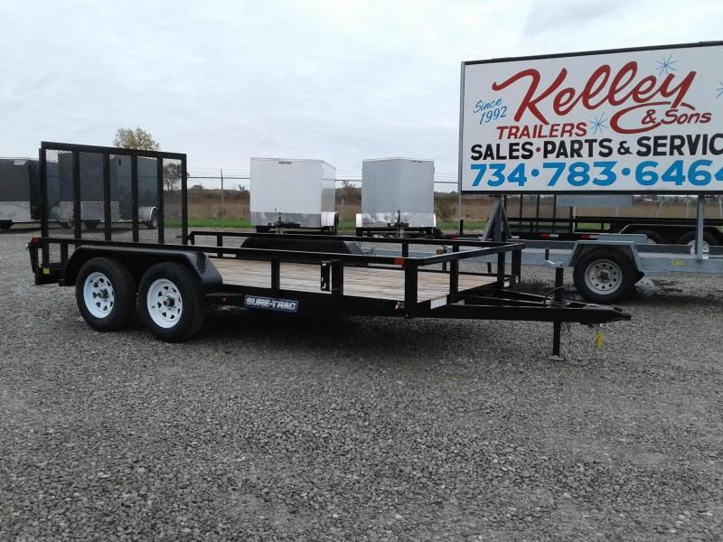 2018 Sure-Trac 7x14 7K Tube Top Utility Trailer