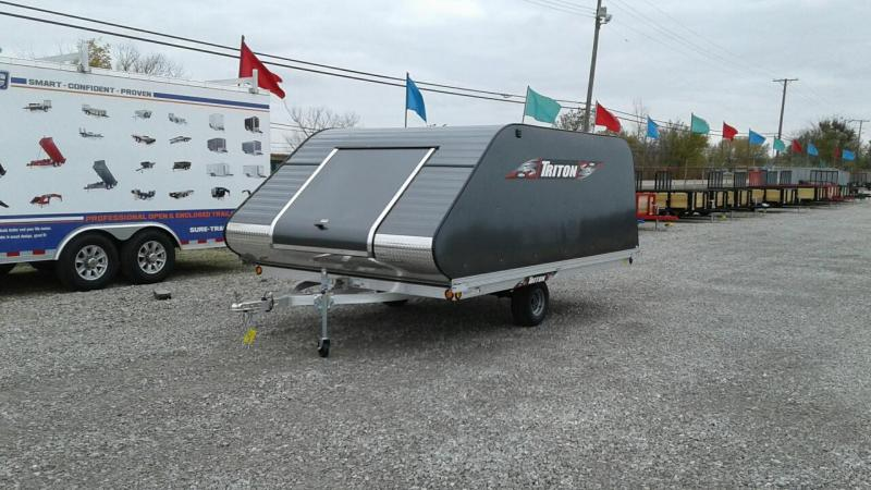 2018 Triton Trailers XT12-101SQ Two Place Snowmobile Trailer