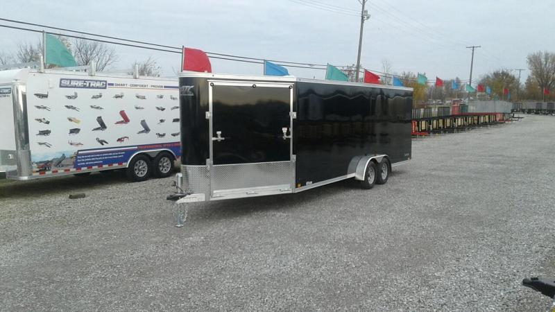 2018 Aluminum Trailer Company 22 + 6 4 Place Snowmobile Trailer