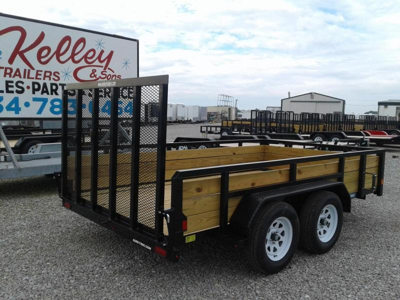 2019 Sure-Trac 7x12 Tandem Axle 3-Board Utility Trailer