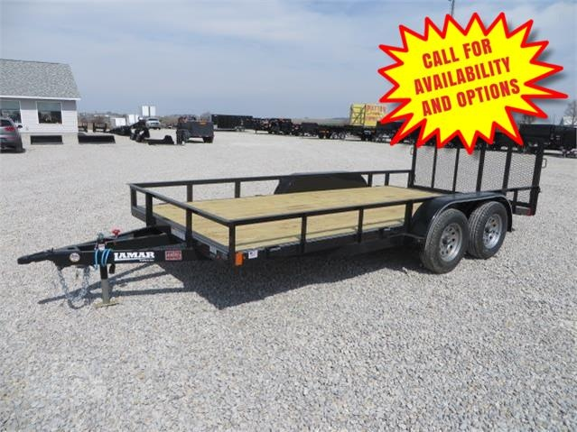 "New Lamar Trailers 83""x16' Heavy Duty W / Gate 7000#"