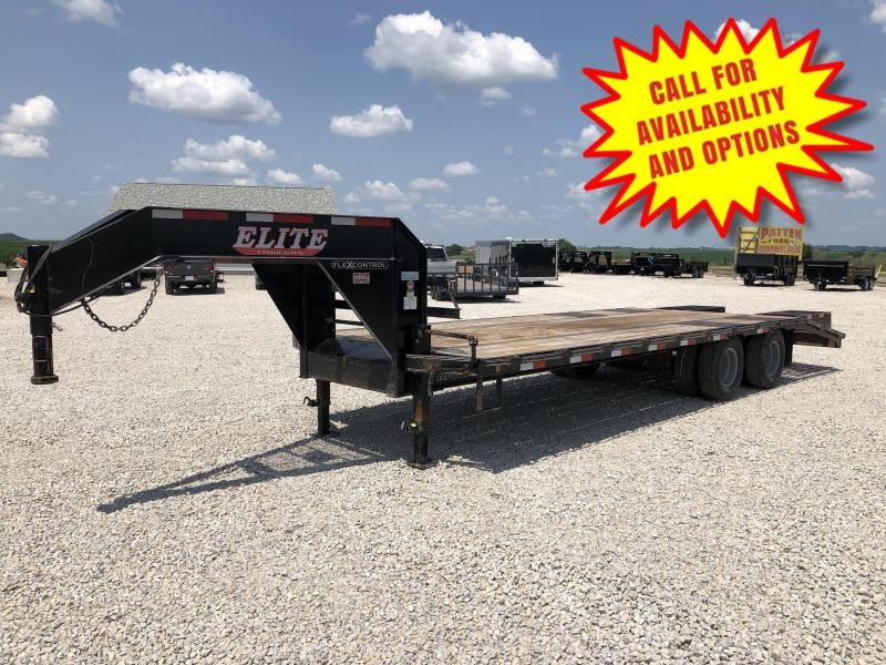 2018 Elite 25' Low Profile Gooseneck 24000#