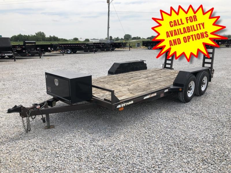 1997 Stokes Welding 16' Skid Loader Trailer 10400#