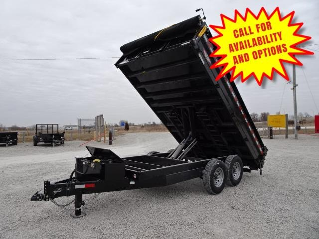 "New H&H 96""x16' Dump W / Drop Down Sides"