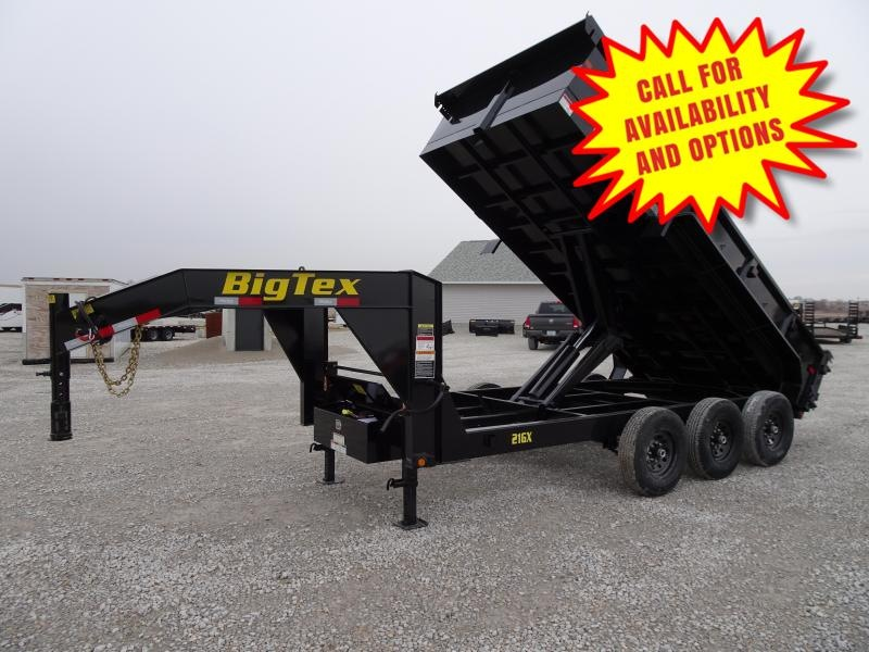 New Big Tex 16' Gooseneck Dump 21000#