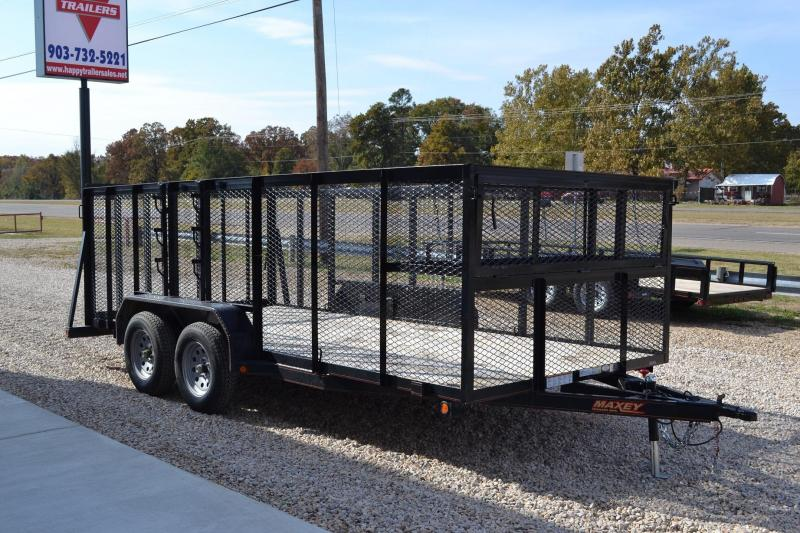 Used 2014 Maxey 16ft Landscape Trailer (Like New)