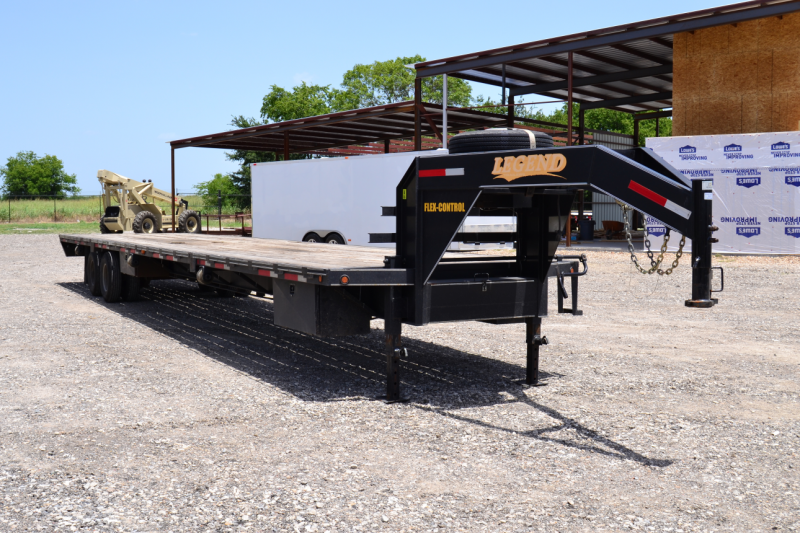 2011 Legend Manufacturing 40ft Gooseneck Hot Shot Flatbed Trailer