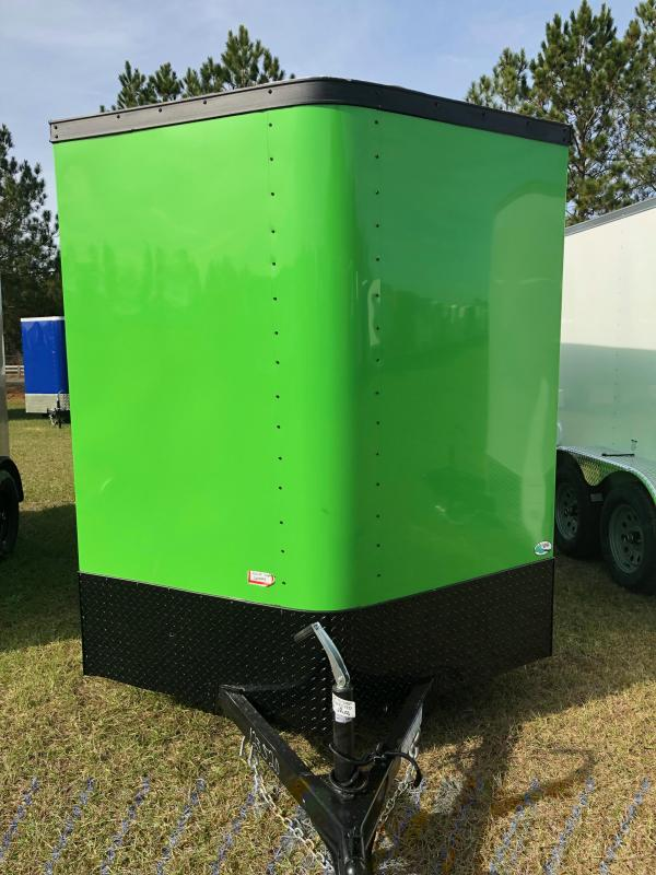 2019 Forest River 6x12SA Arctic Green Blackout Enclosed Cargo Trailer