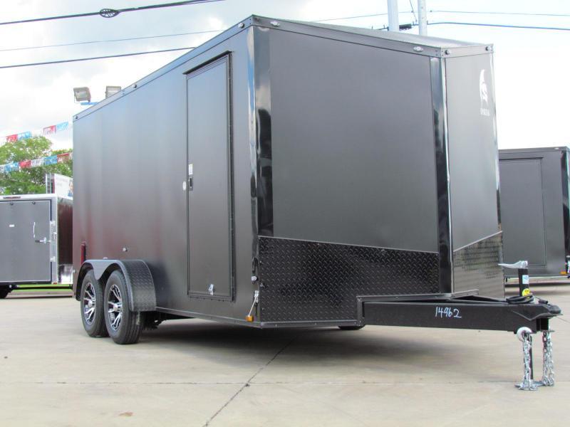 2019 Spartan 7x16TA2 Matte Black Midnight Edition Enclosed Cargo Trailer