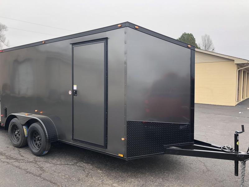 2019 Spartan 7x14TA Charcoal Blackout Enclosed Cargo Trailer