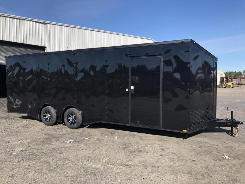 2019 Spartan 8.5x24x7 BLACKOUT Spread axle Car / Racing Trailer