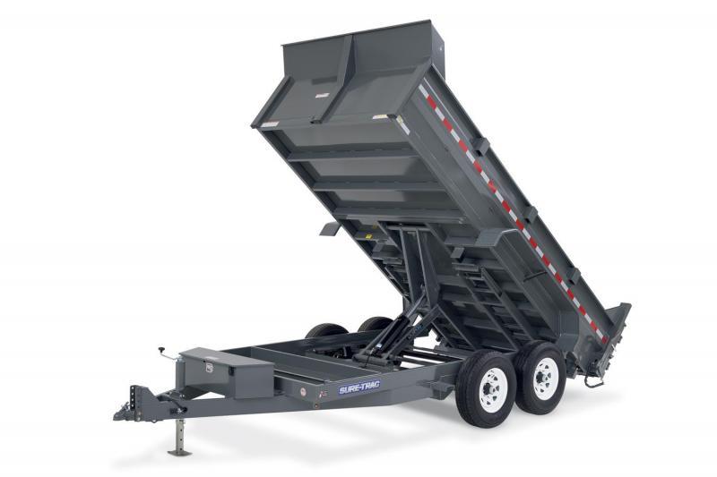 2018 Sure-Trac 8x14 Deckover Scissor 14k Dump Trailer