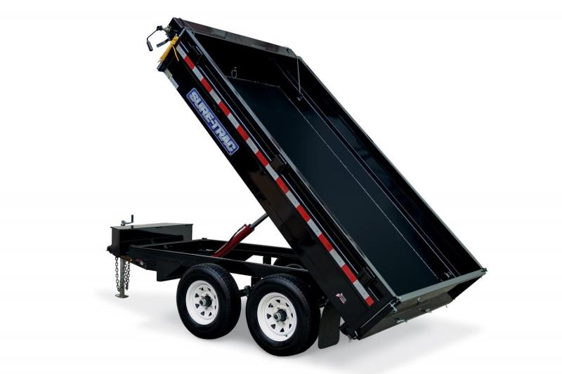 2019 Sure-Trac 6X10 LO PRO SINGLE RAM Dump Trailer