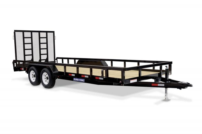 2018 Sure-Trac 7X20 TUBE TOP Utility Trailer