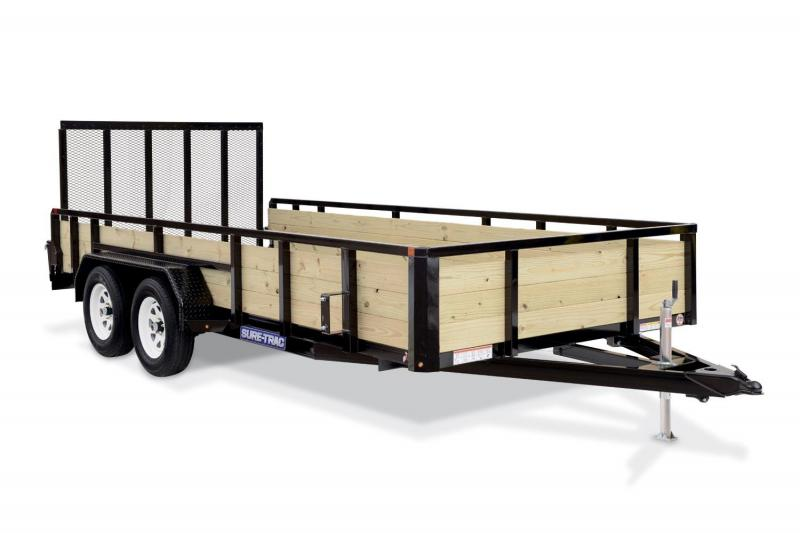 2018 Sure-Trac 7X12 3 BOARD Utility Trailer