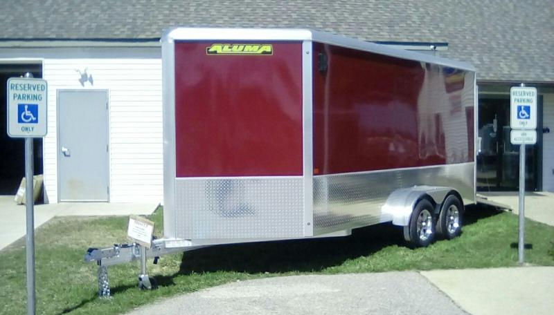 2020 Aluma 7x14 7k Enclosed Cargo Trailer