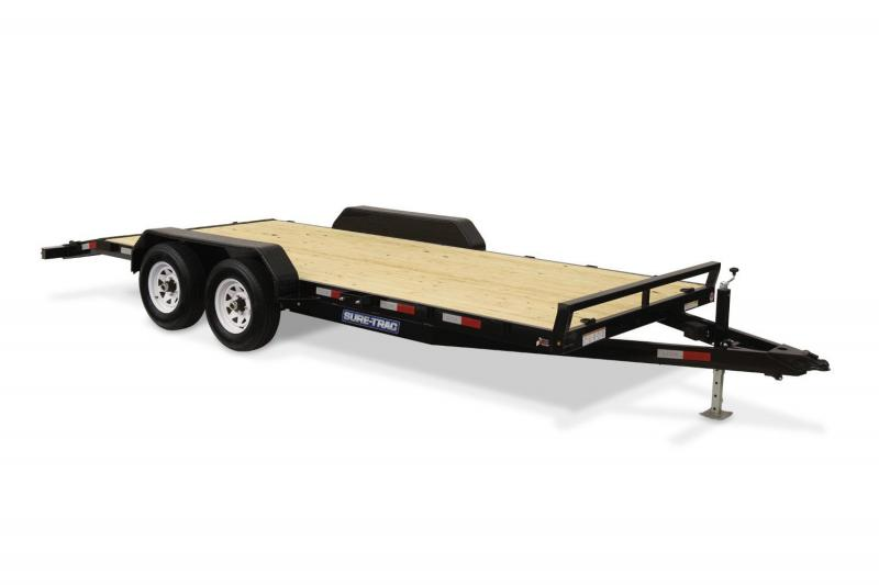 2018 Sure-Trac 7X18 WOOD DECK Car / Racing Trailer