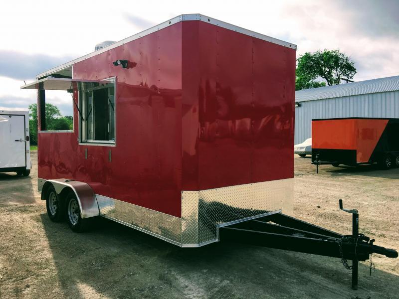 2018 7X16TA BBQ Porch Vending / Concession Trailer
