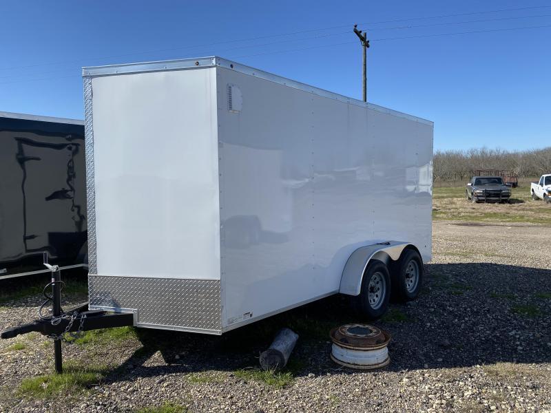 2020 Salvation Trailers 7X16TA-WHITE Enclosed Cargo Trailer