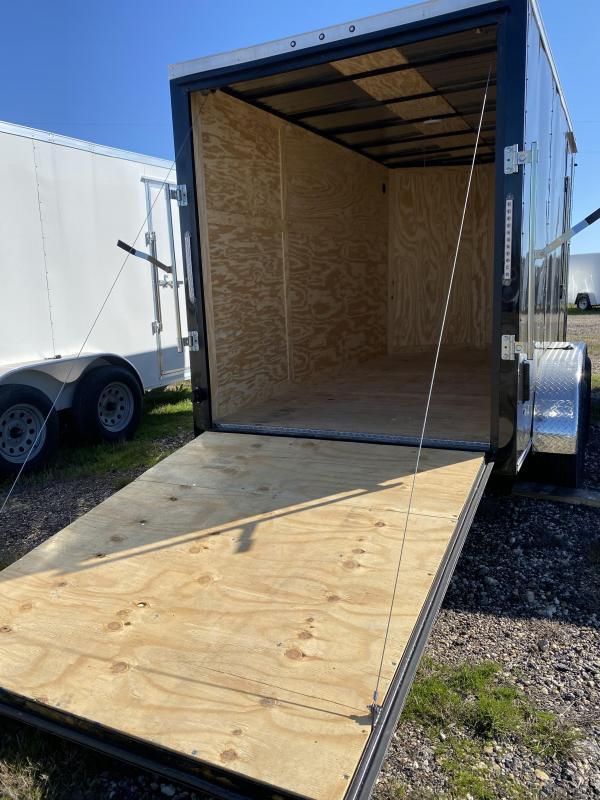 2020 Salvation Trailers 7X12TA-BLACK Enclosed Cargo Trailer