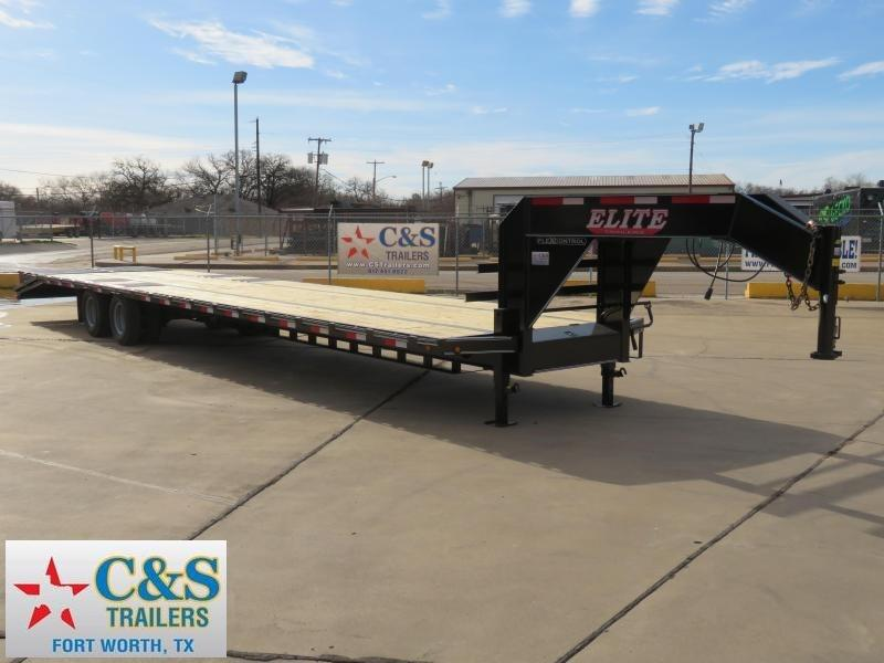2019 Elite 102 x 40 Flatbed Trailer