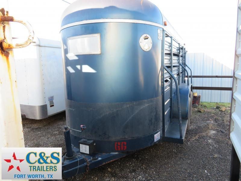 Rental 66 - 2016 S and H Trailers 14 Stock Livestock Trailer