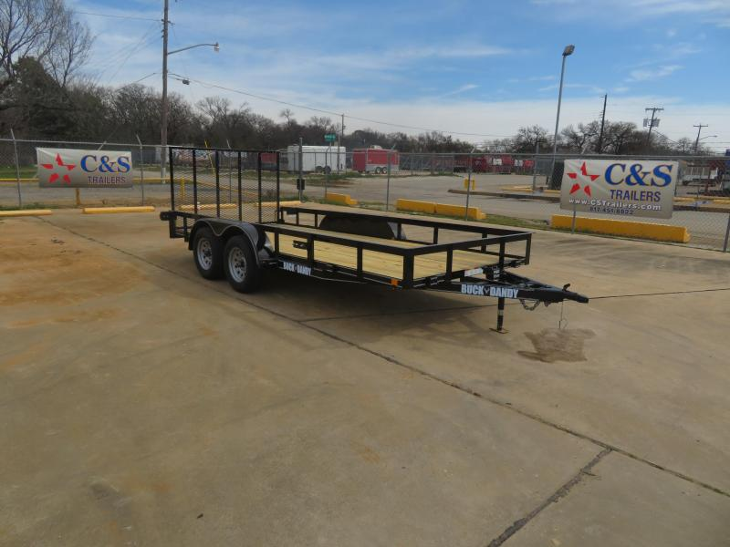 "2019 Buck Dandy 77"" x 16' Utility Trailer"