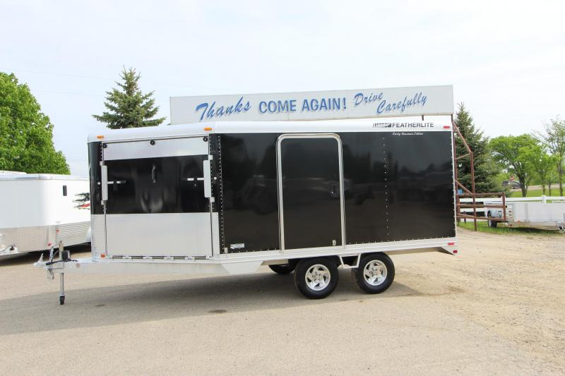 2006 Featherlite 1648 16 with 6 drive off Snowmobile Trailer