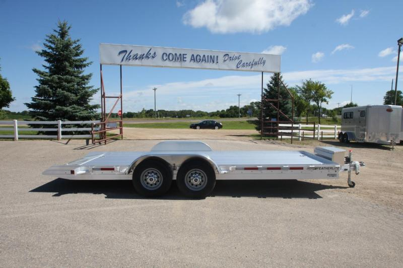 2017 Featherlite 3110 20 Power Lift Flatbed Trailer