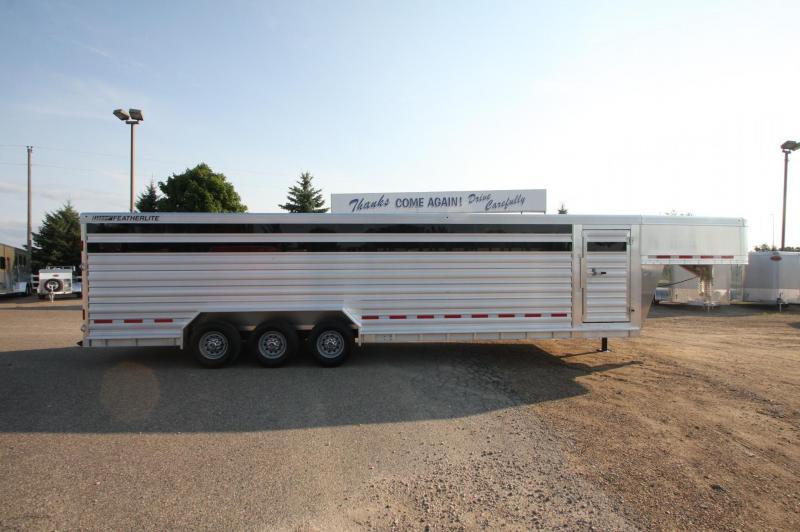 2017 Featherlite 30' Stock trailer