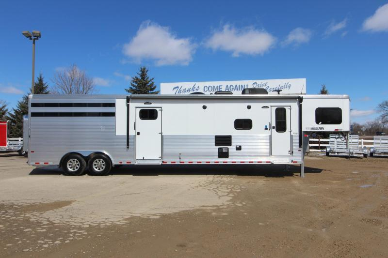2019 Sundowner Trailers 4HR Stock Combo LQ Horse Trailer